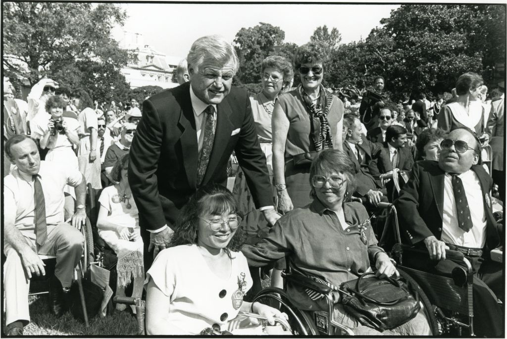 Sharon, Sen. Kennedy, Atsuko Kuwana, and other leaders on the South Lawn of the White House